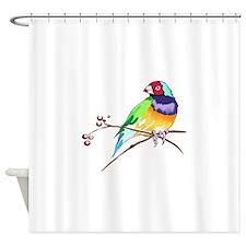 GOULDIAN FINCH Shower Curtain