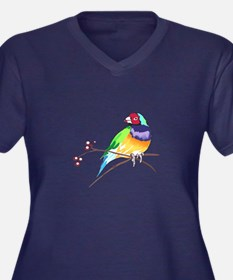 GOULDIAN FINCH Plus Size T-Shirt