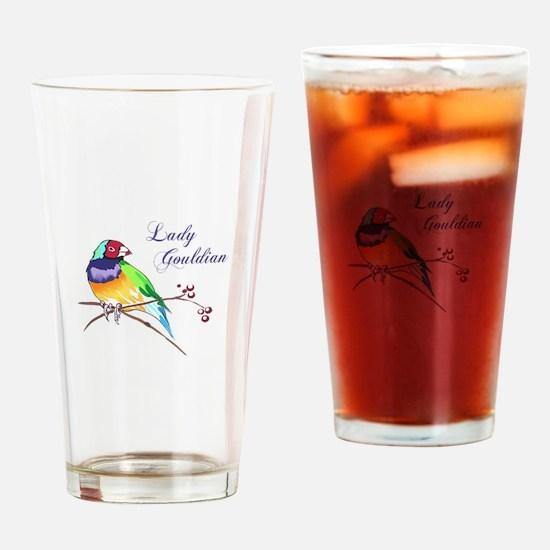 LADY GOULDIAN FINCH Drinking Glass