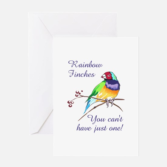 RAINBOW FINCHES Greeting Cards