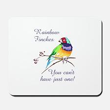 RAINBOW FINCHES Mousepad