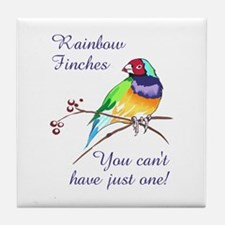 RAINBOW FINCHES Tile Coaster