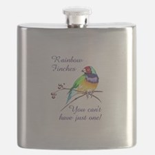 RAINBOW FINCHES Flask