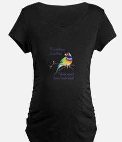 RAINBOW FINCHES Maternity T-Shirt
