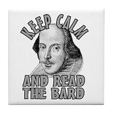 Read the Bard Tile Coaster