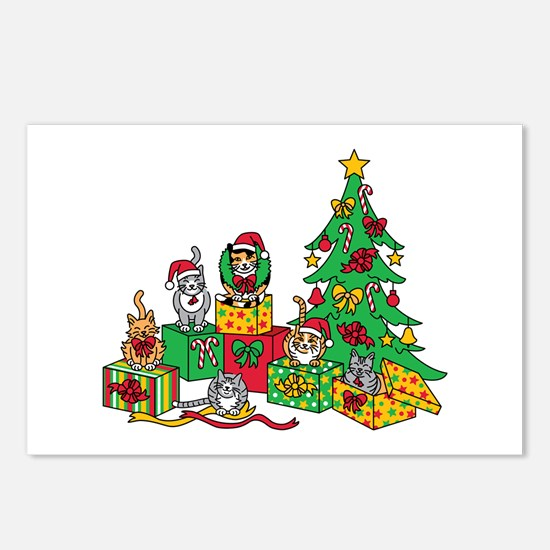 Christmas Cats Postcards (Package of 8)