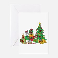 Christmas Cats Greeting Cards