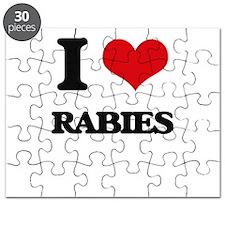 I Love Rabies Puzzle