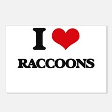 I Love Raccoons Postcards (Package of 8)