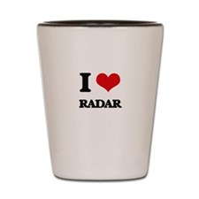 I Love Radar Shot Glass