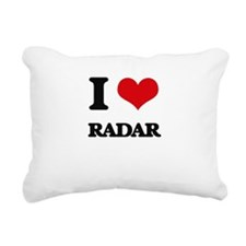 I Love Radar Rectangular Canvas Pillow