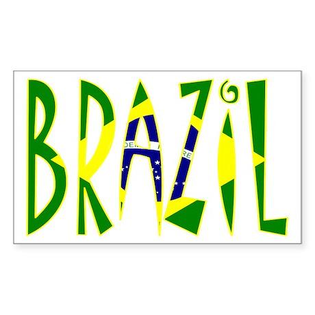 Brazil Rectangle Sticker