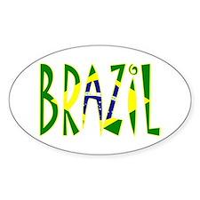 Brazil Oval Bumper Stickers