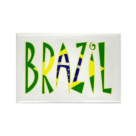 Brazil Rectangle Magnet (10 pack)