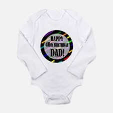 Cute 90 year old birthday party Long Sleeve Infant Bodysuit