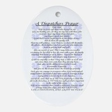 DISPATCHERS PRAYER Oval Ornament