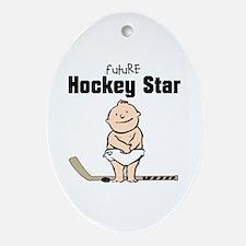 Future Hockey Star Ceramic Ornament