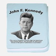 JFK Freedom baby blanket