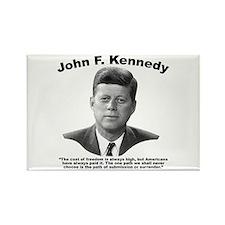JFK Freedom Rectangle Magnet