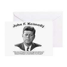 JFK Freedom Greeting Card