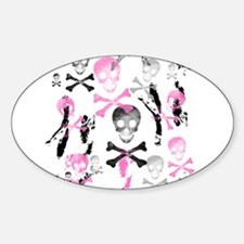 PIRATE GRUNGE Oval Decal