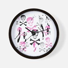 PIRATE GRUNGE Wall Clock