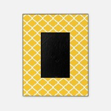 Yellow White Quatrefoil Pattern Picture Frame