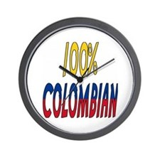 100% Colombian Wall Clock
