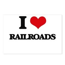 I Love Railroads Postcards (Package of 8)