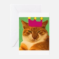 King Creola Orange Cat Greeting Cards (Package of