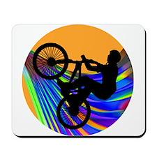 BMX on Rainbow Road Mousepad
