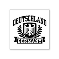 """Funny Germany coat arms Square Sticker 3"""" x 3"""""""