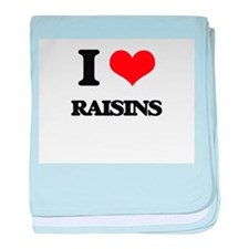 I Love Raisins baby blanket