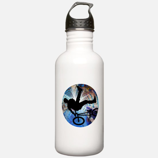 BMX in Grunge Tunnel Water Bottle