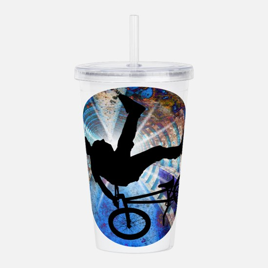 BMX in Grunge Tunnel Acrylic Double-wall Tumbler