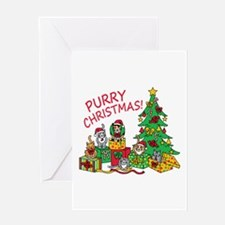Purry Christmas! Greeting Cards