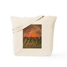 Orange Sunset Field Tote Bag
