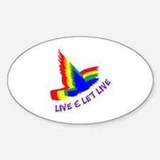 LIVE AND LET LIVE Decal
