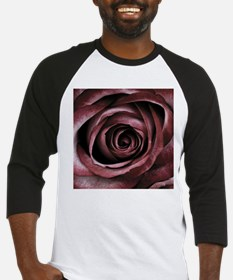 Decorative Red Rose Floral Baseball Jersey