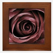 Decorative Red Rose Floral Framed Tile