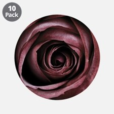 "Decorative Red Rose Floral 3.5"" Button (10 pack)"