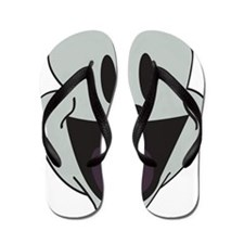 face cartoon Flip Flops