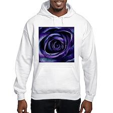 Purple Blue Rose Bloom Hoodie