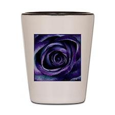 Purple Blue Rose Bloom Shot Glass