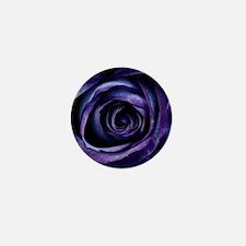 Purple Blue Rose Bloom Mini Button