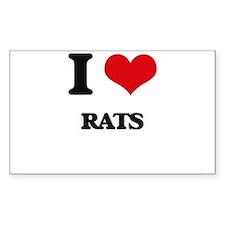 I Love Rats Decal
