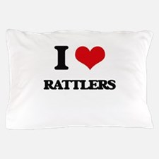 I Love Rattlers Pillow Case