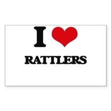 I Love Rattlers Decal