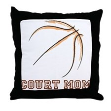 COURT MOM Throw Pillow