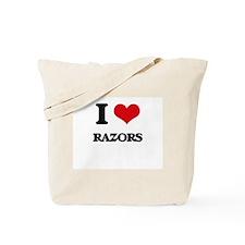 I Love Razors Tote Bag